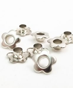 Flower Shaped Bright Silver  Bead Cores 1/4″
