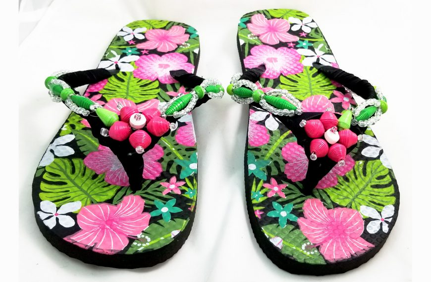 Flip-Flop Facelift with Paper Beads