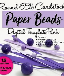 Round 65lb Cardstock Paper Bead Digital Template Pack