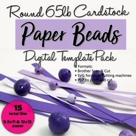 Round 65lb Cardstock Paper Bead Digital Template Pack