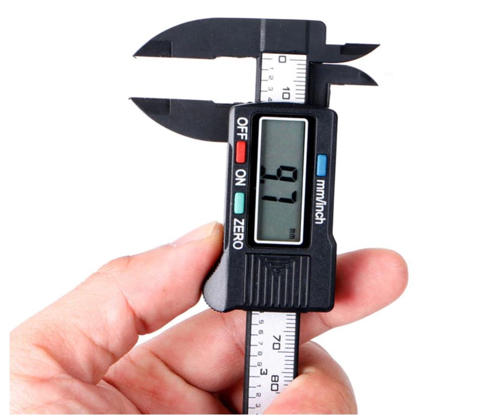Digital Caliper for Measuring Paper Bead Diameter