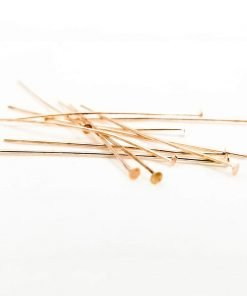 Rose Gold Head Pins 50mm