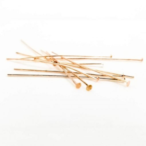 Rose Gold Head Pins 50mm