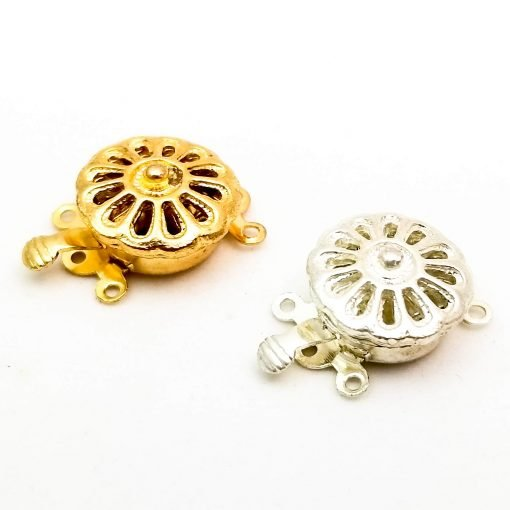 Tab Style Wheel Clasps Gold and Silver