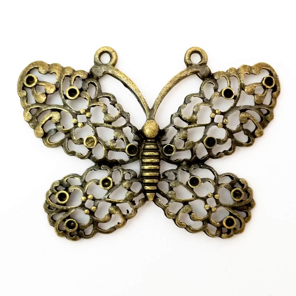 Tibetan Butterfly Charms Antique Bronze