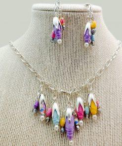 Silver Flower Petal Bead Caps