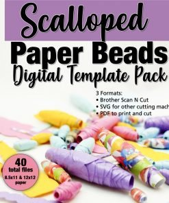 Scalloped Paper Beads Template