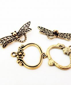 Antique Gold Dragonfly Toggle Clasp