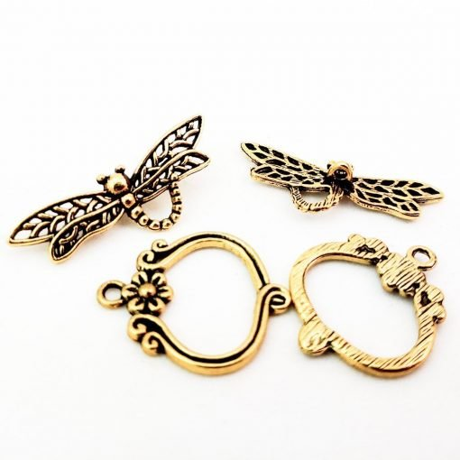 Gold Dragonfly Toggle Clasp