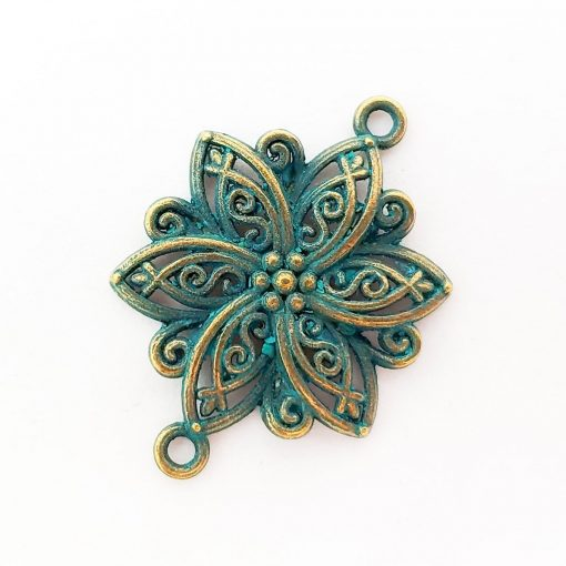 Patina Flower Connector