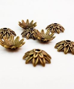 Antique Gold Flower Bead Caps