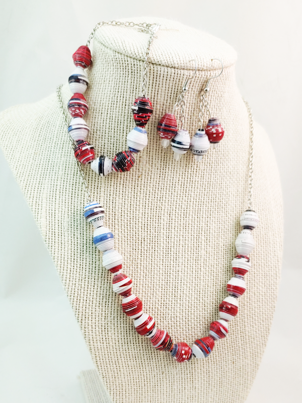 Paper Bead Jewelry made from Election Mailers