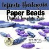 Infinite Harlequin Paper Bead