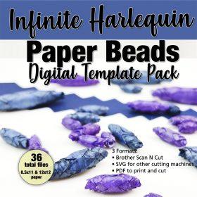 Infinite Harlequin Paper Bead Digital Template Pack