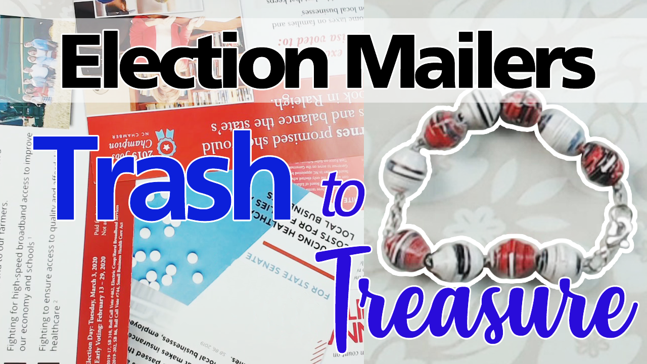 Turn Election Mailers into Paper Beads!