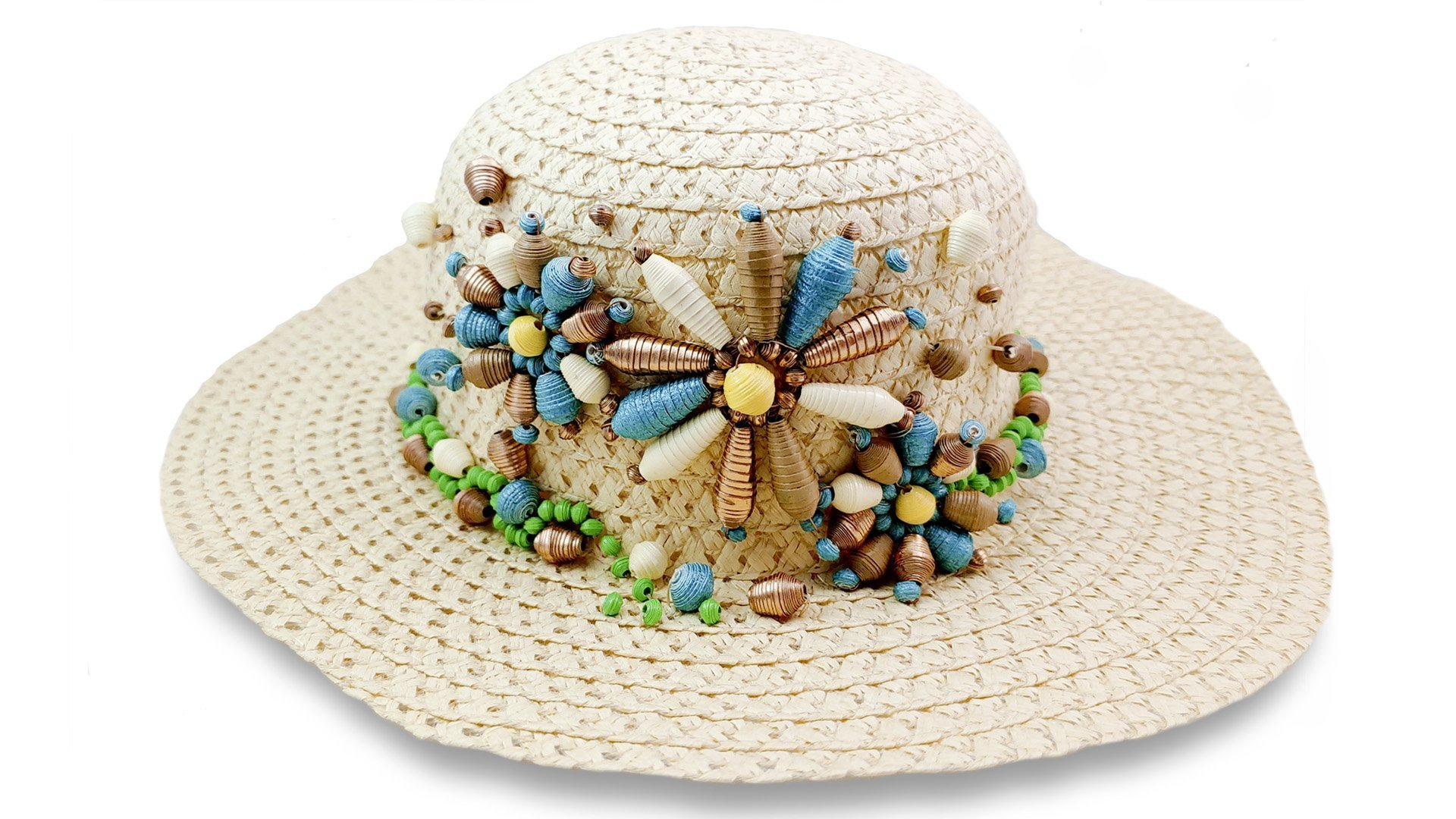 Paper Bead Garden Hat Decoration