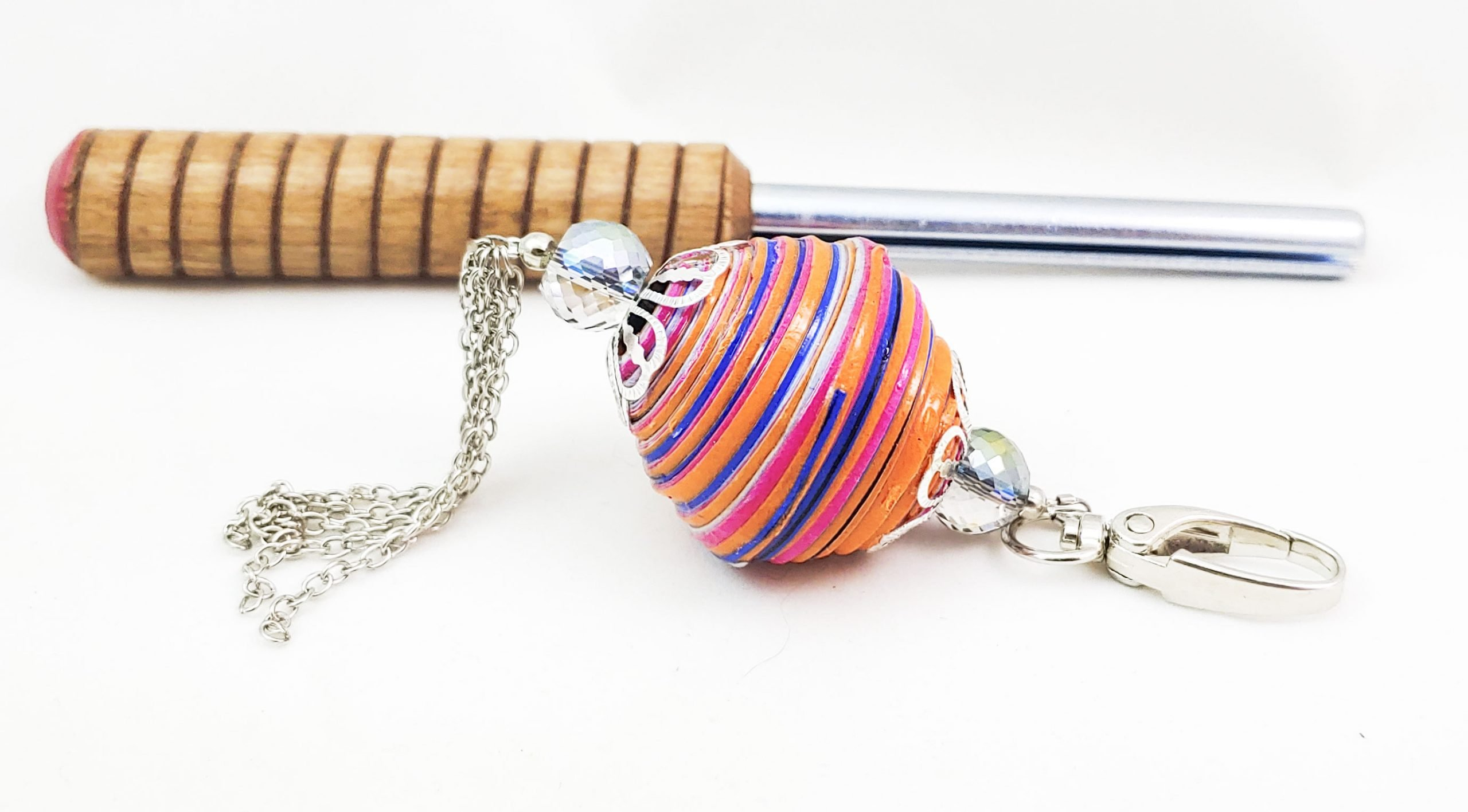 BIG Paper Bead Key Chain Project Tutorial