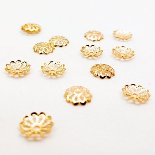 Gold Filligree Bead Caps