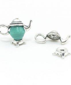 Silver Teapot Charm Set