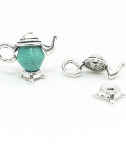 Silver Teapot Charm Finding Set