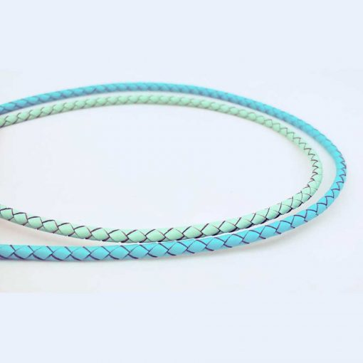 4mm Round Braided Leather Cord