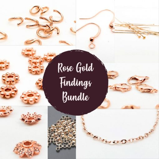 Rose Gold Findings Bundle