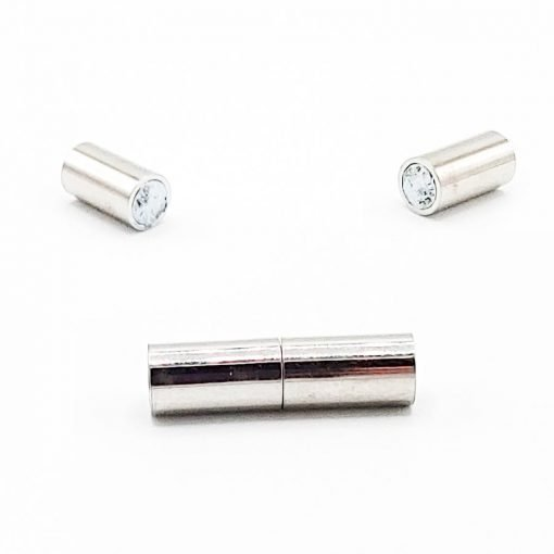 Silver Magnetic Tube Clasps