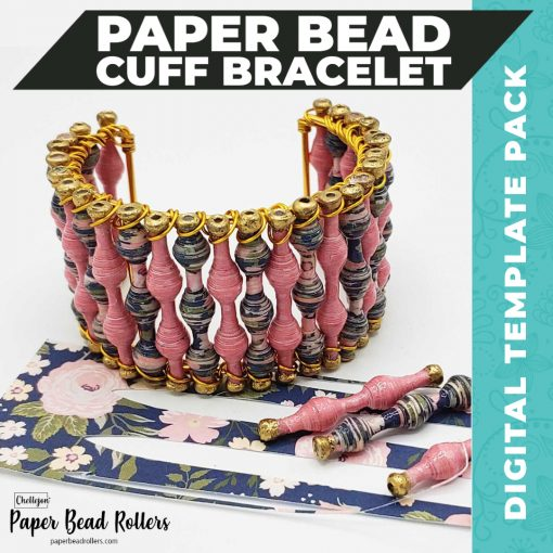 Paper Bead Cuff Bracelet Digital Template