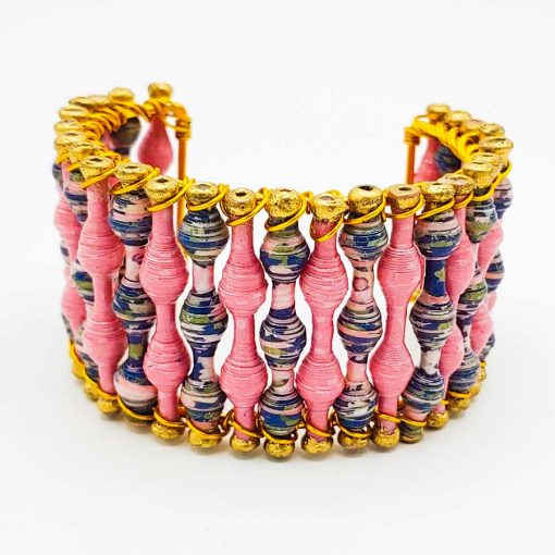 Paper bead Cuff Bracelet
