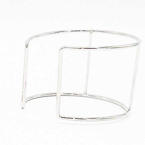 Silver Cuff Bracelet Frame