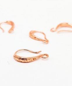 Fancy Rose Gold Earring Hooks