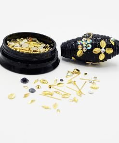 Gold Flowers and Leaves Caviar Bead Mix