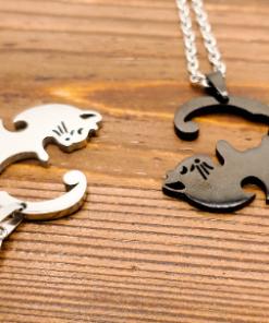 Cat best friends necklace