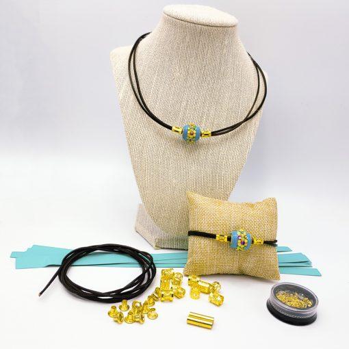 Customizable paper bead kit